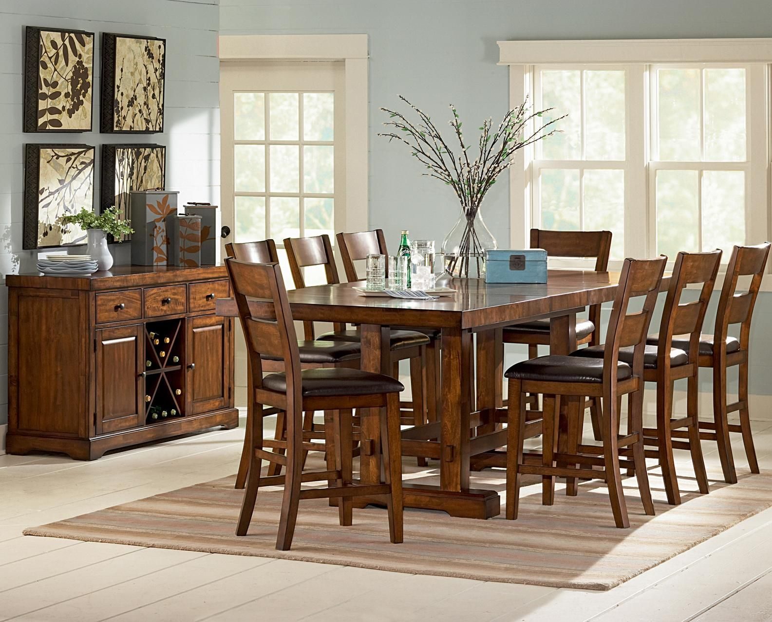 Zappa 9 Piece Counter Height Table Amp Chair Set By Vendor