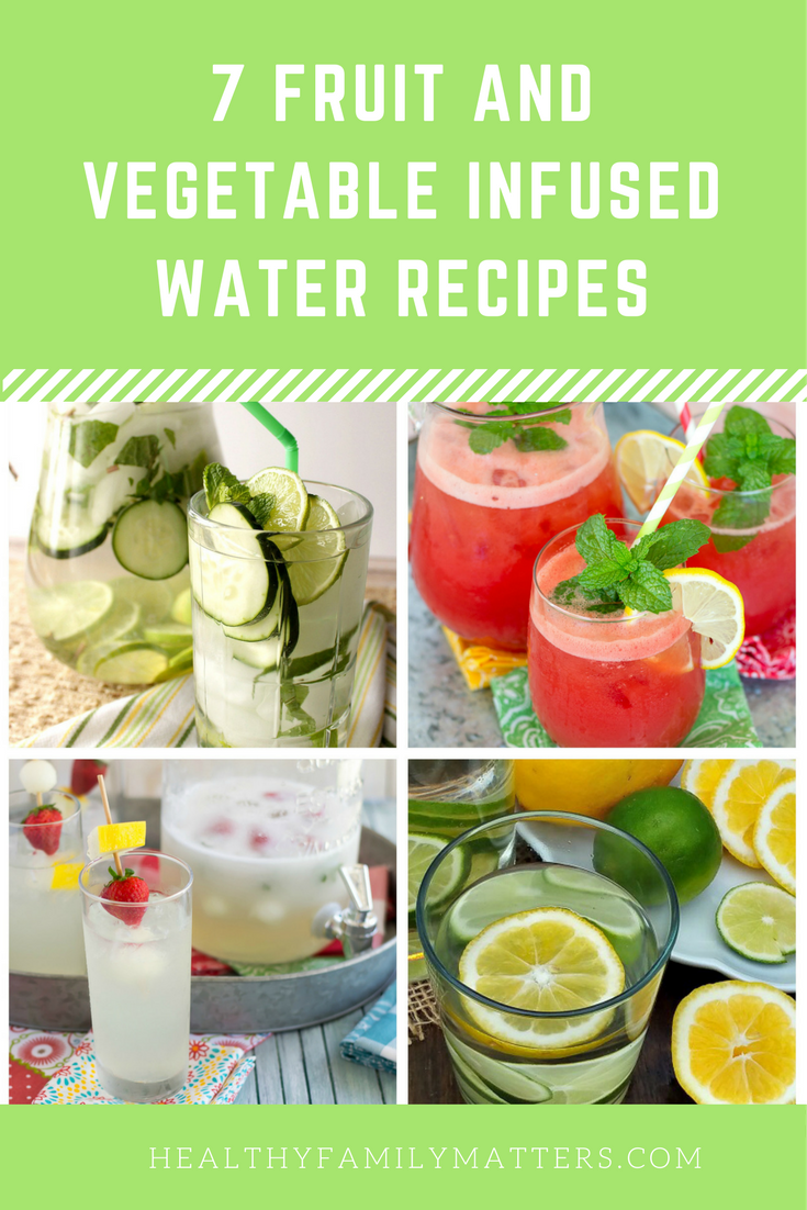 fruit and vegetable infused water recipes