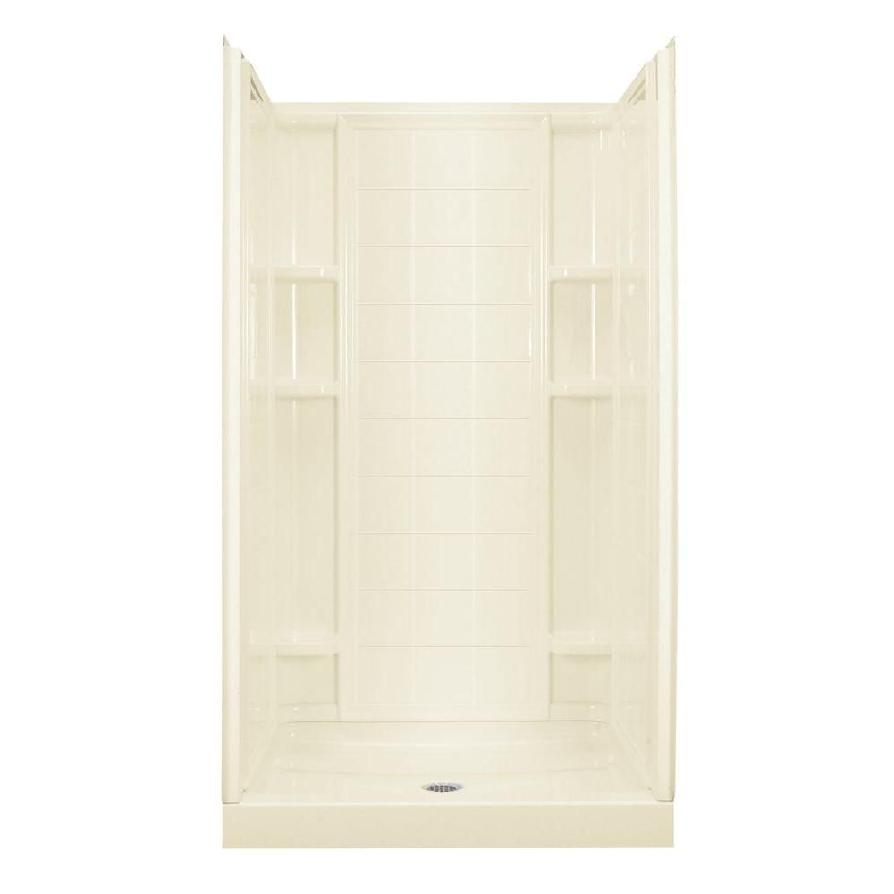 STERLING Ensemble 35-1/4 in. x 42 in. x 77 in. Shower Kit in Biscuit