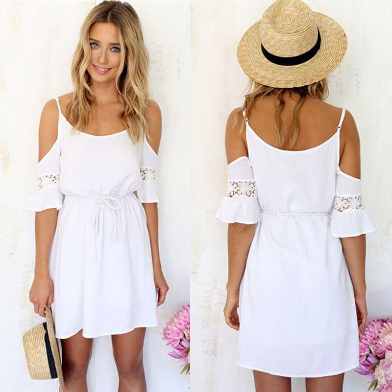 Vestido blanco corto h&m