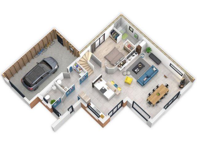 Une maison bois qui produit plus quu0027elle ne consomme House - faire un plan d appartement en ligne