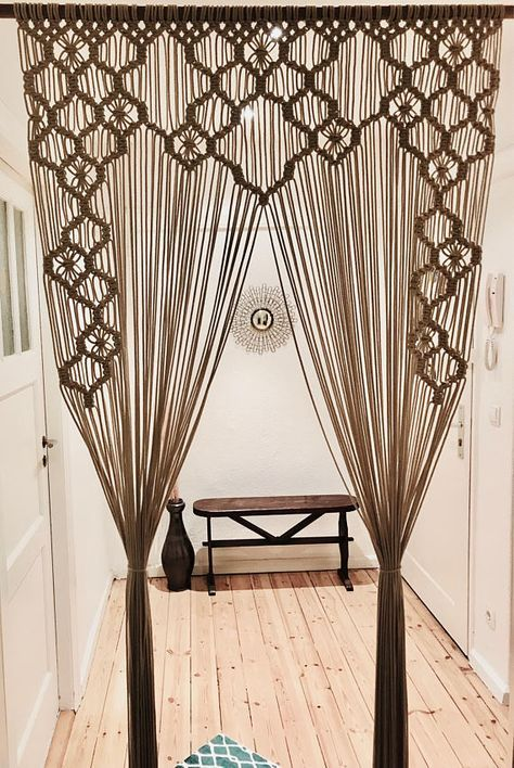 Macrame Curtain, Room Divider, Window Treatment, Wedding Backdrop, Wall Hanging