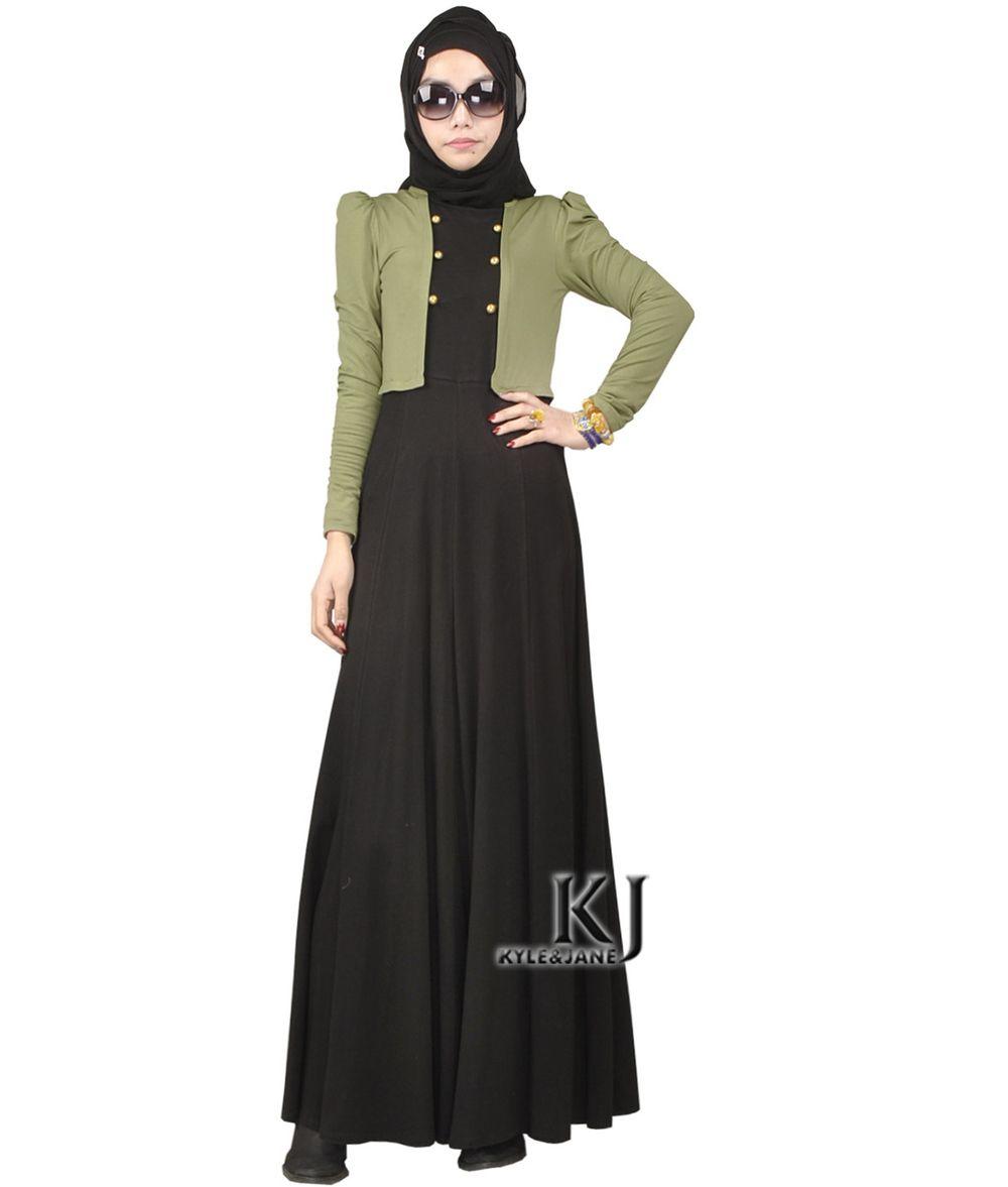 Robe longue manche longue islam