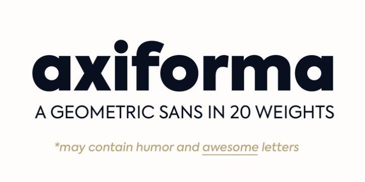 Axiforma font download | Fonts | Fonts, Typography fonts