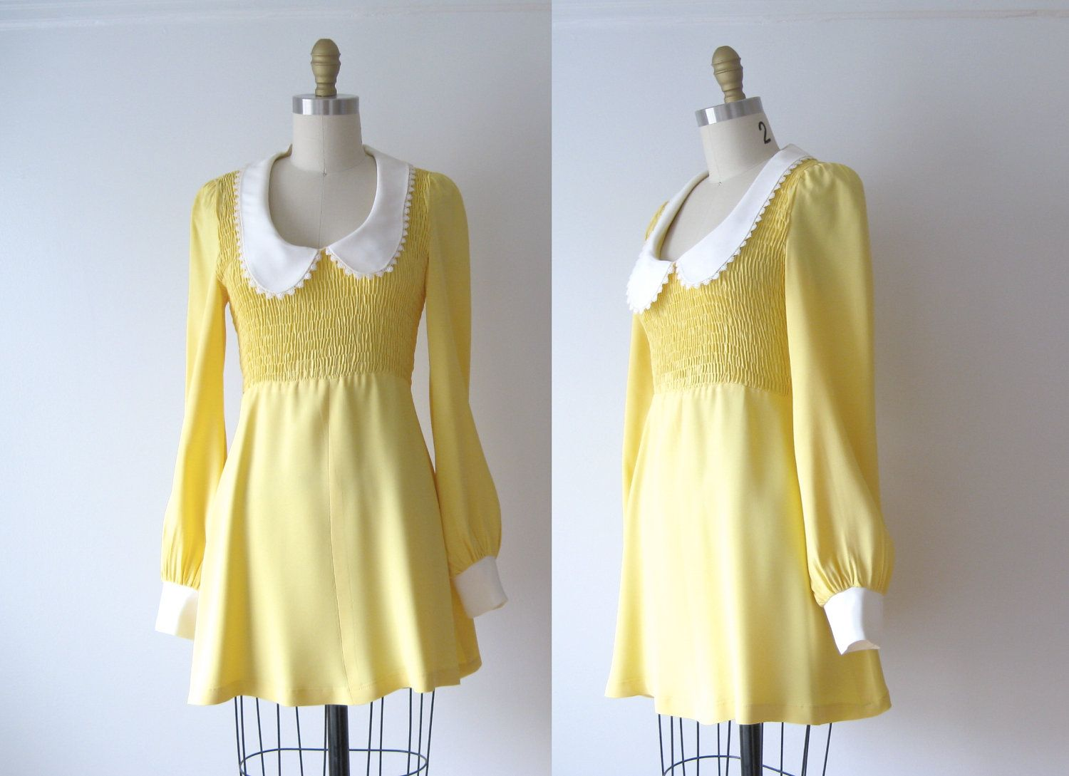 Vintage mini dress / 60s mod dress / babydoll dress | Minis, 60 ...