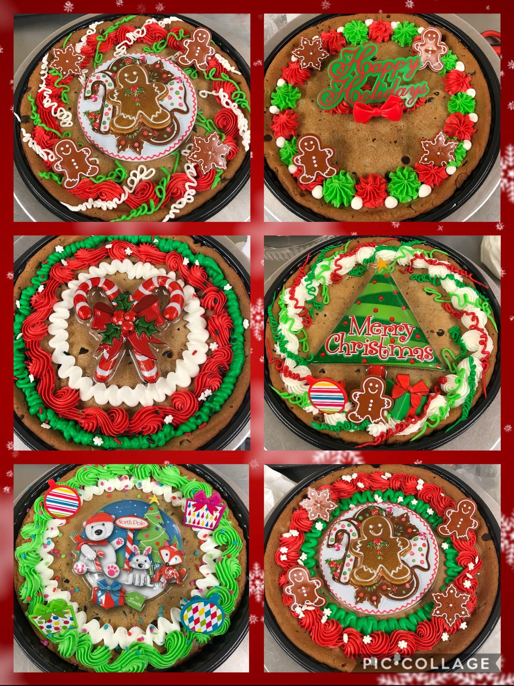 Christmas Cookie Cakes Cakes I Ve Decorated Giant Cookie Cake