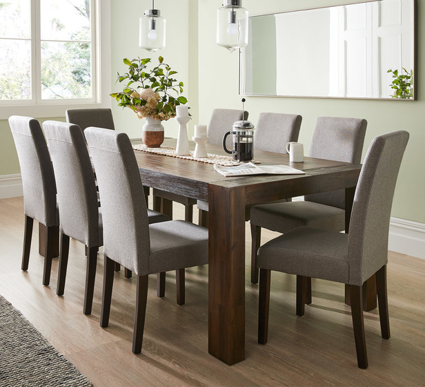 Kingston 8 Seater Dining Table Fantastic Furniture 8 Seater Dining Table Brown Dining Table Timber Dining Table