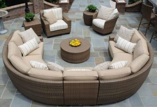 Attractive Curved Modular Outdoor Seating Hot Tubs Fireplaces Patio Furniture Heat N Sweep Okemos Outdoorlivingdecor
