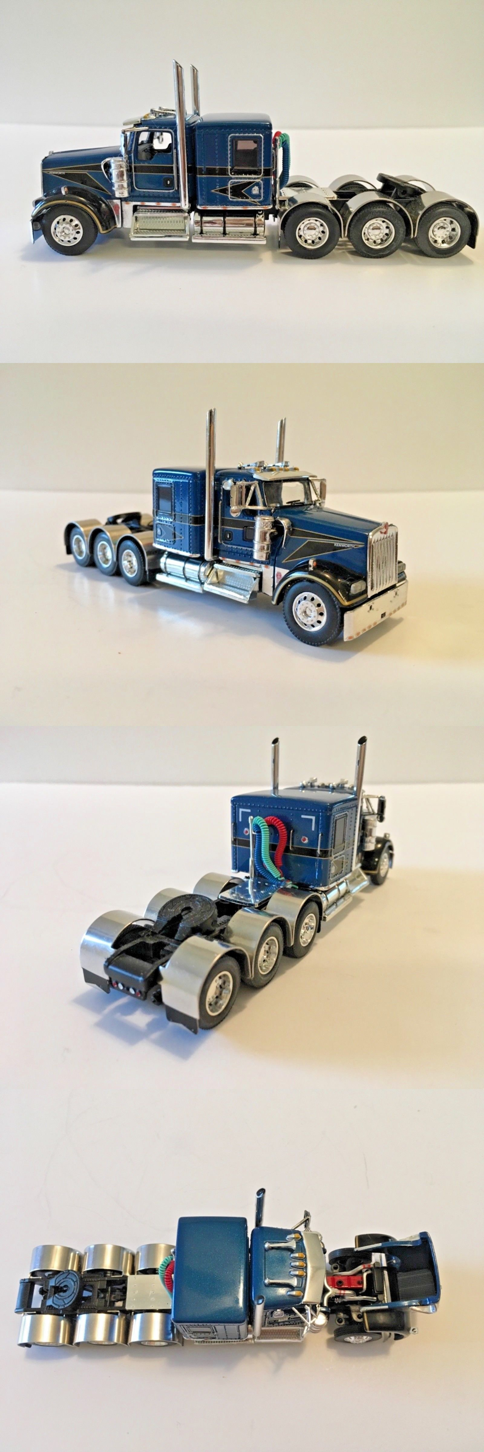 Toys car and truck  Kenworth WL Flattop Cab Only Triaxle th Scale DCP Farm Toy
