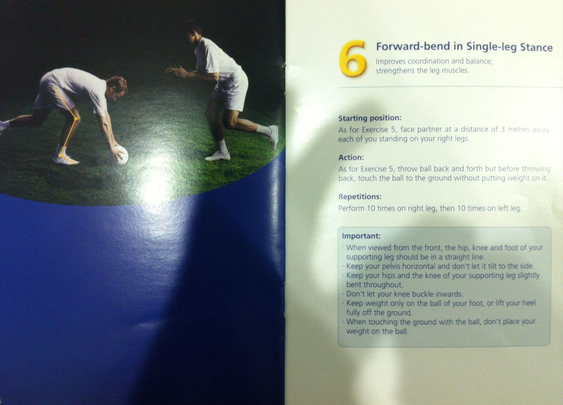 Functional single leg squat exercise taken from FIFA The