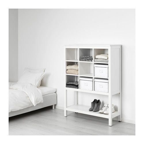 Hemnes Storage Unit White Stained