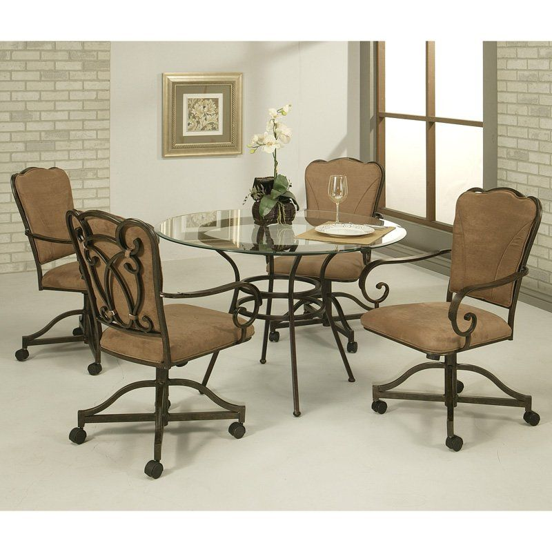 have to have it pastel willington 5 pc glass top dining table set rh pinterest com