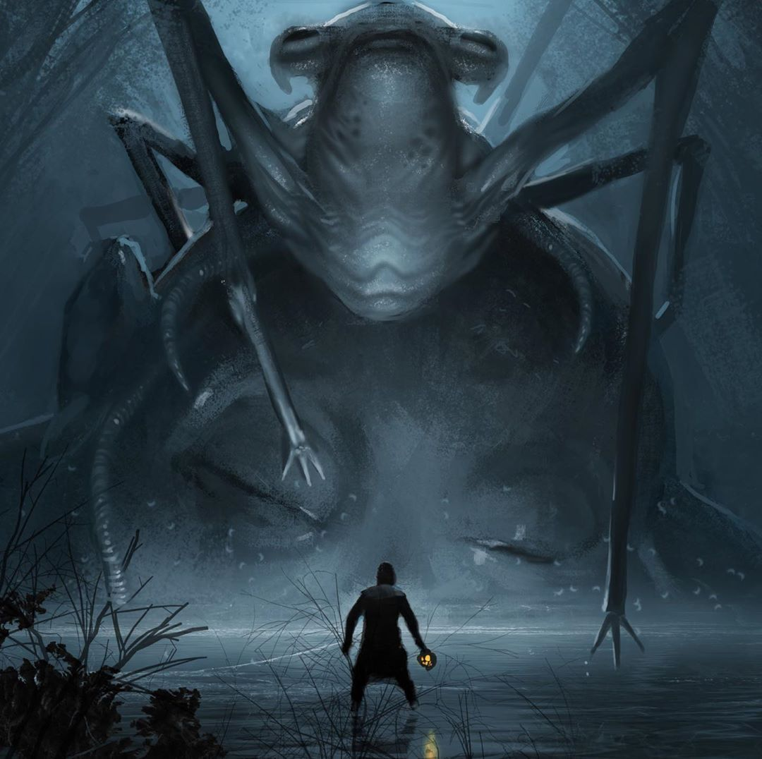 Geek Carl On Instagram The Spider Creature Spoke I Am The Eye Of Webbish Bog I Know What You Seek New Star Wars Art Star Wars Concept Art Concept Art