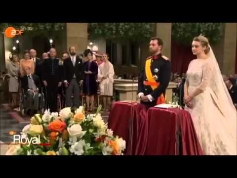 The Royal Wedding of Hereditary Grand Duke Guillaume and Stephanie de La...