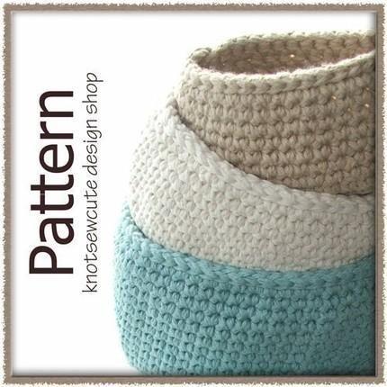 Amazing Crochet Pattern (PDF)   Oval Cotton Storage Bins