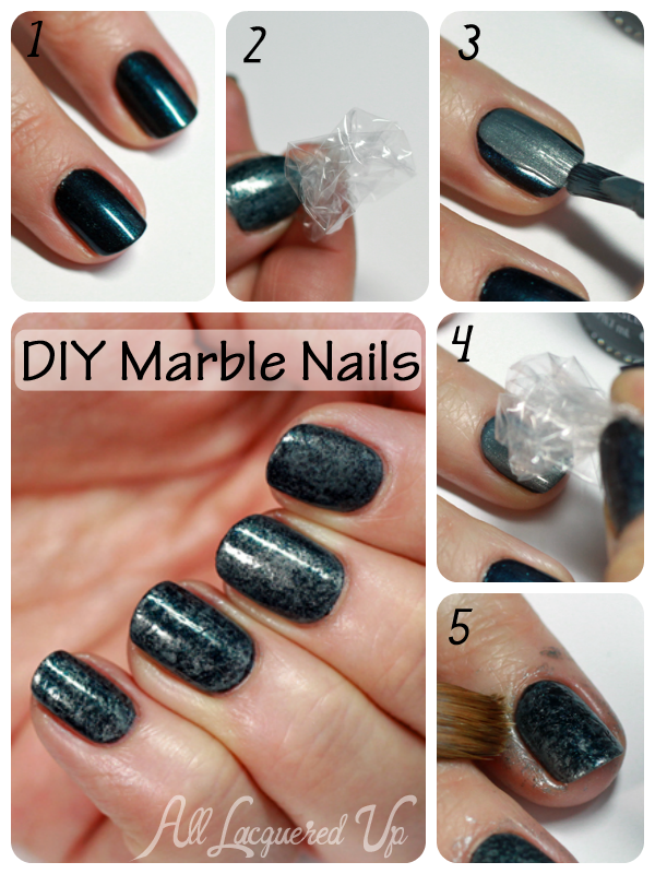 Diy Marble Nailart Tutorial Nails Via All Lacquered Up