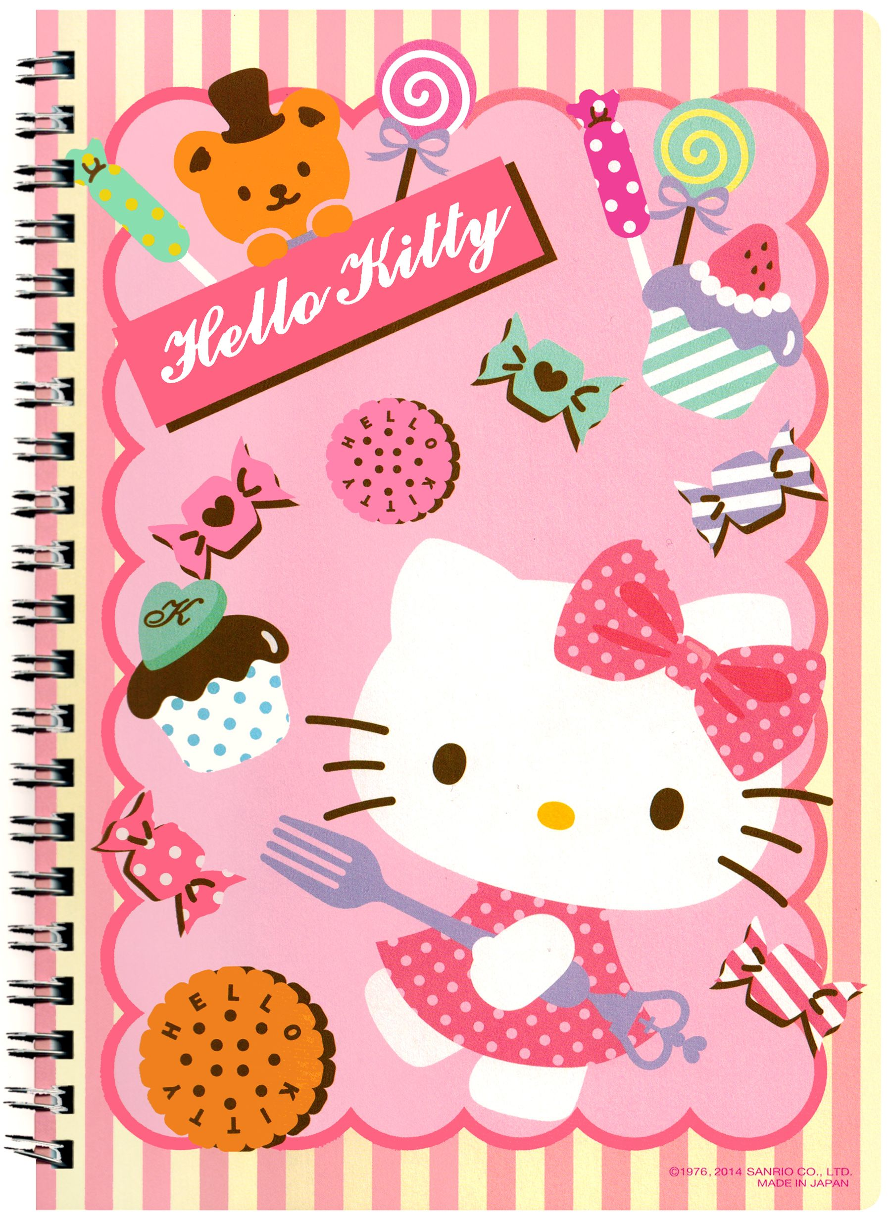 Sanrio Hello Kitty Treats Big A5 Spiral Notebook