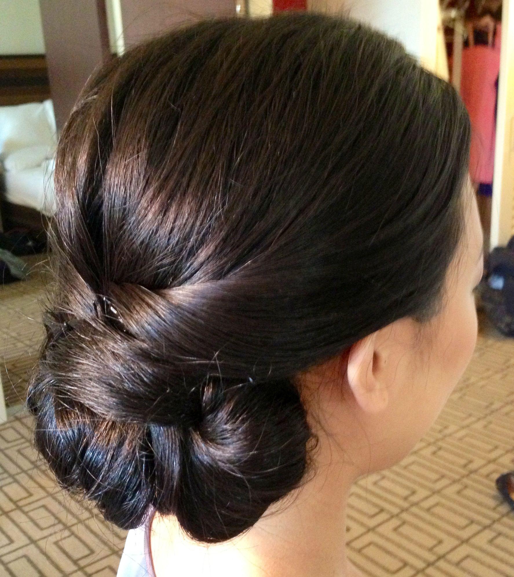 wedding updo, wedding hair, updo, classic updo, chignon, asian