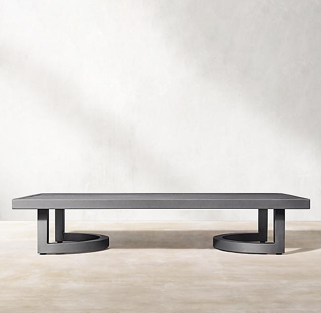 Portofino Aluminum Coffee Table In 2020 Modern Decoration