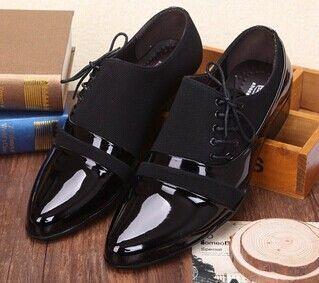 76c200760d68d 2015 sapatos masculinos de couro dos homens de Polo sapatos Lace Up Flats  sapatilhas de negócios e de casamento sapatos Oxfords esporte para homens  EUR ...