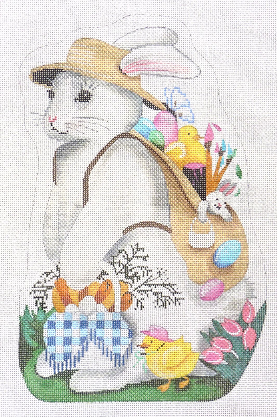 Associated Talent Girl Easter Bunny Handpainted