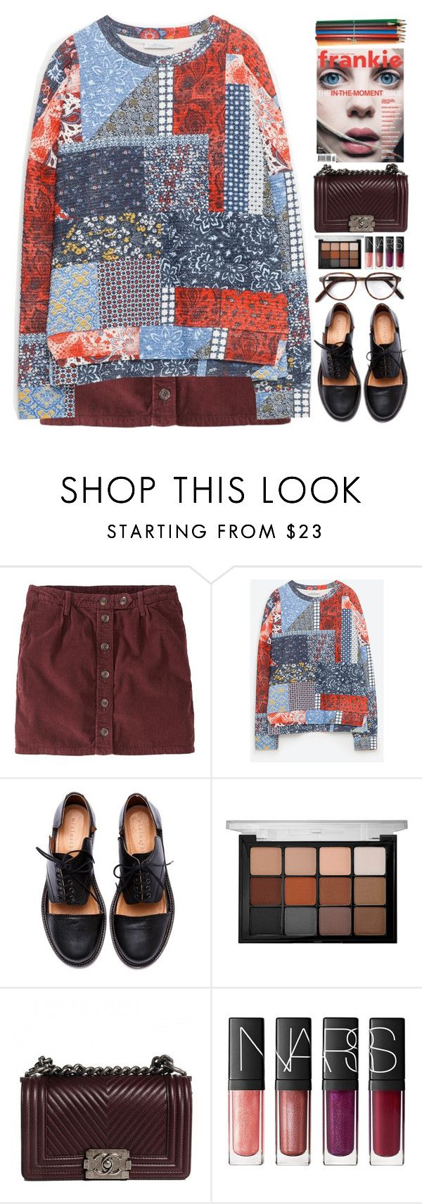 """Stitches"" by doga1 ❤ liked on Polyvore featuring Jack Wills, Zara, Minimarket, Viseart, Chanel, NARS Cosmetics, Cutler and Gross, women's clothing, women and female"