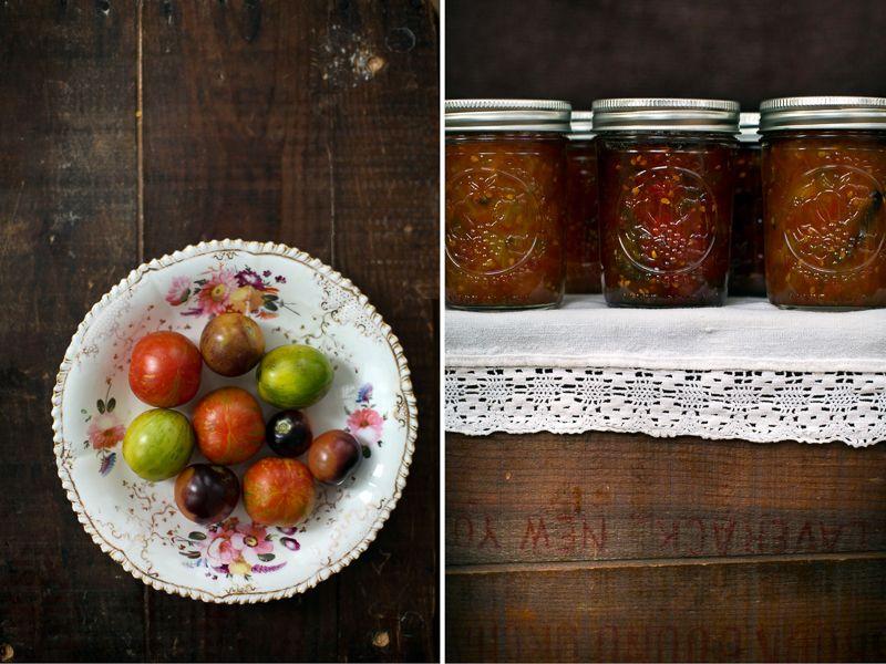 three little halves: Sunshine in a Jar: Roasted Heirloom Tomato Jam with Cardamom and Vanilla