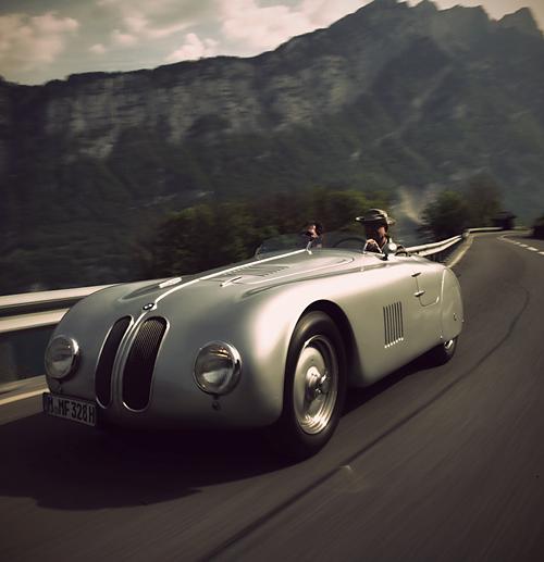 1939, BMW 328 Touring Coupe, Germans Hashke von Hanshteyn and Walter ...