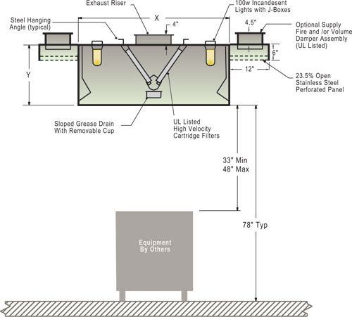 Range Hood Fume Extractor For Commercial Kitchen   Buy Range Hood ... |  Stix | Pinterest | Commercial Kitchen, Exhaust Hood And Kitchens