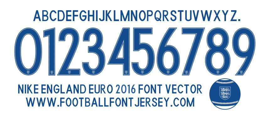 Football Font Jersey VECTOR AND TTF FOR FOOTBALL FONT JERSEY