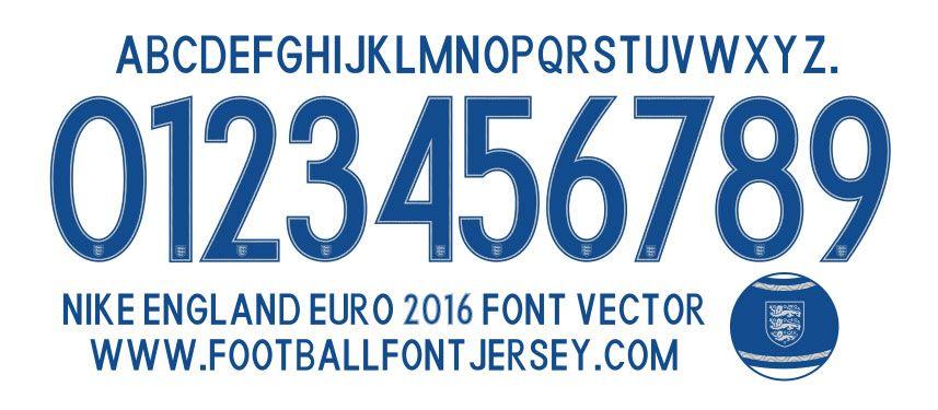 Pin by Glen Gao on Football Kits | Football fonts, Font