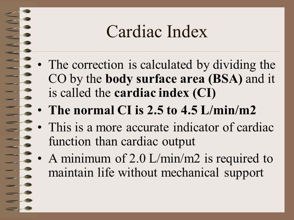 image result for cardiac index