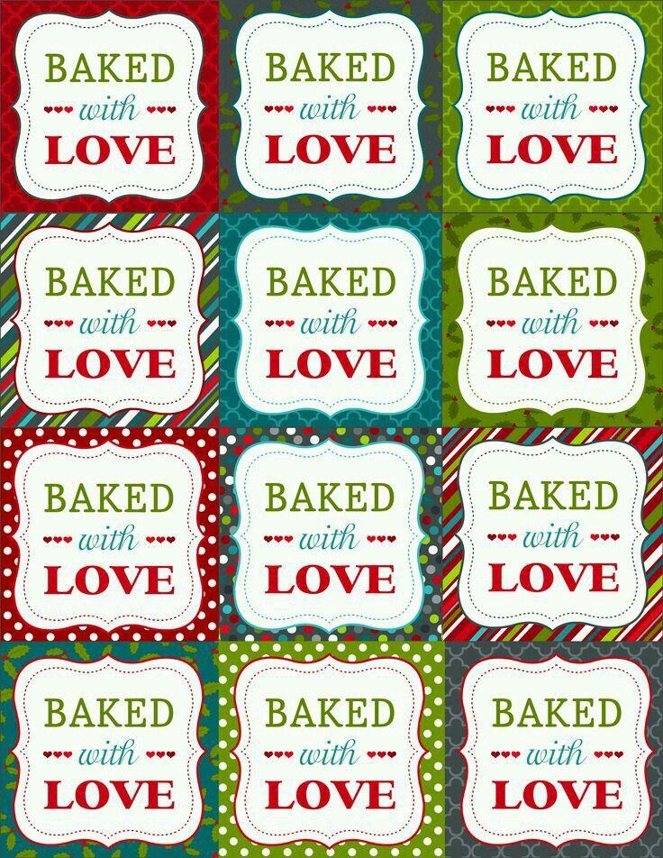 Pin von Pamela Borg auf free printable labels for homemade goodies ...