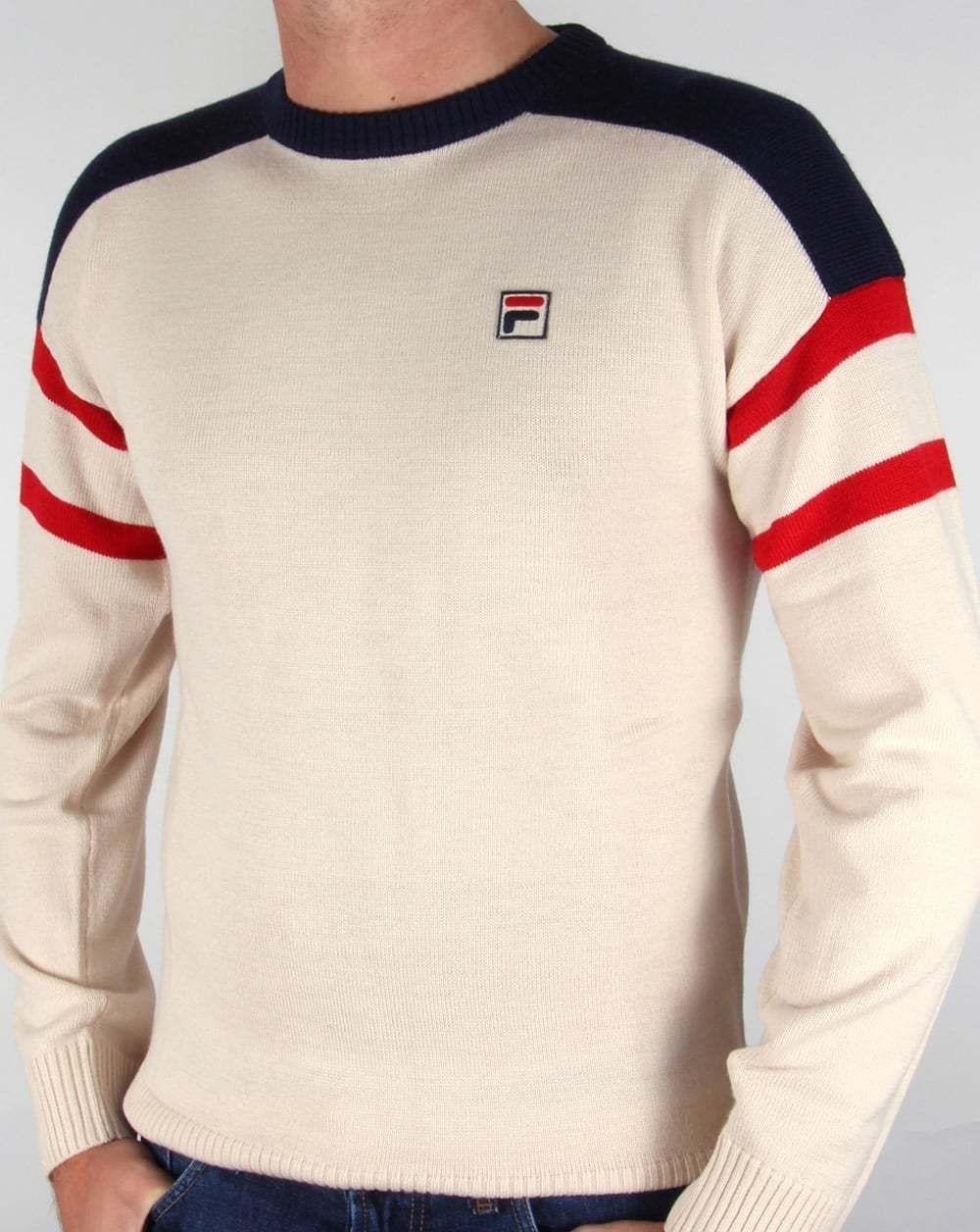 best service 57110 cf77e Fila Vintage Febbio Jumper in Gardenia - knitted sweatshirt crew neck ski   eBay mens small £55