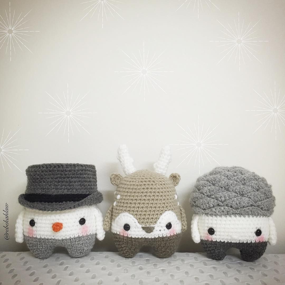 Meet Simon snowman, Heinz the stag, and Woody pine cone. Love these ...