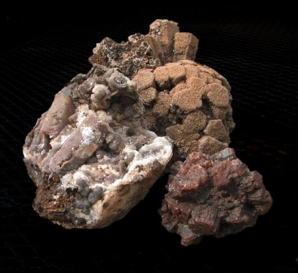 Trio of aragonite cluster psuedomorphs from my collection.