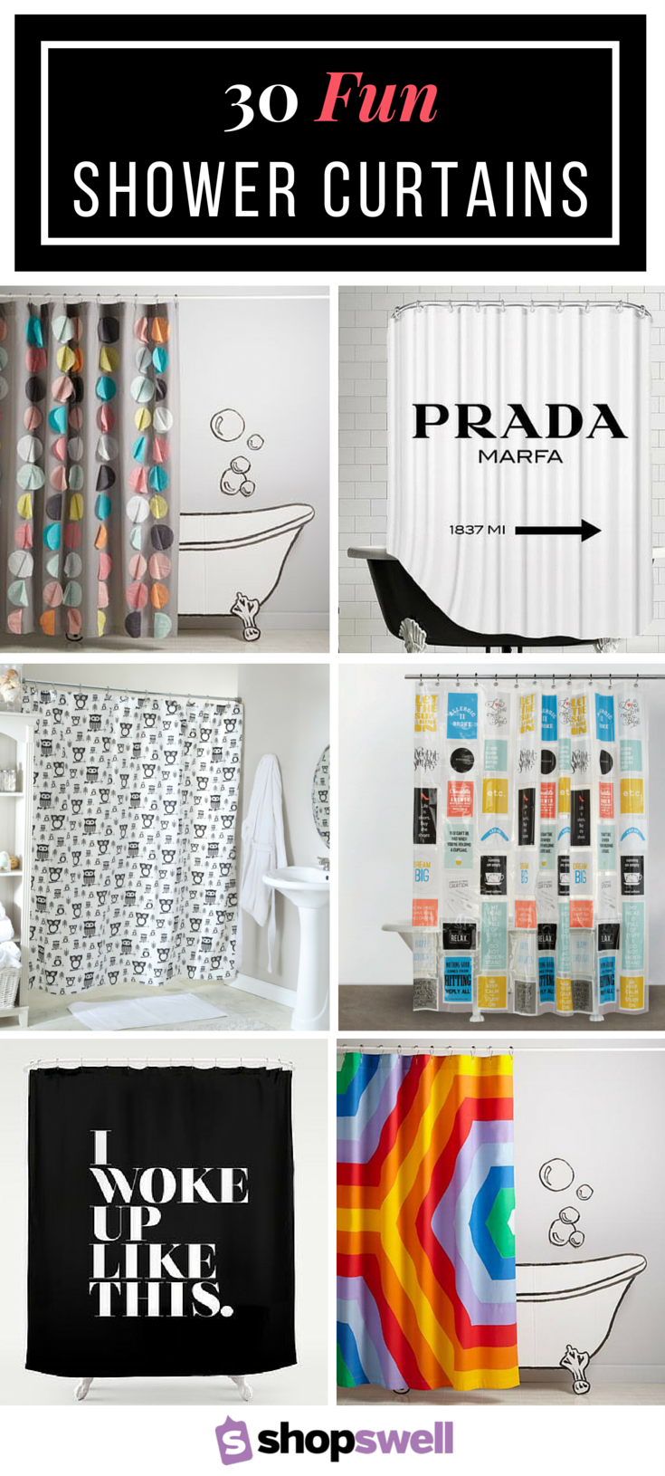 Put Some Personality In Your Bathroom To Liven Up Morning Routine With One Of These 30 Funky Shower Curtains