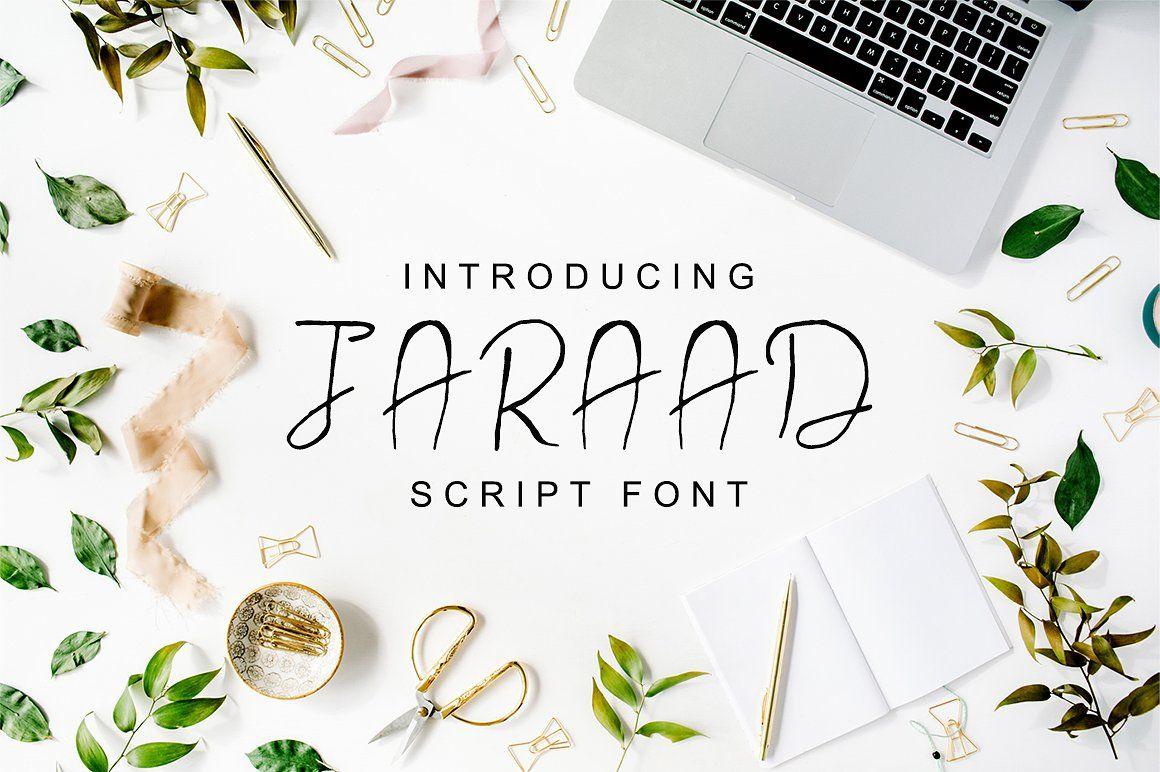 Download Jaraad Script 4 Font Family Pack