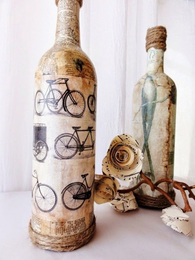 55 ideas of decoupage on the glass 16