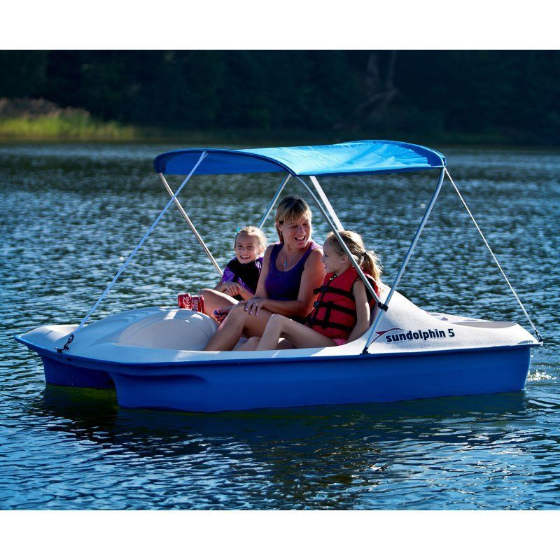 Pedal Boat Five 5 Person Peddle Paddle Sun Canopy Fishing Water Wheeler Slider : boat sun canopy - memphite.com
