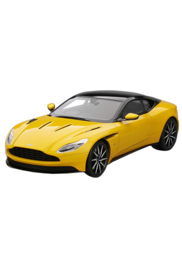 brand new 1/18 scale car model of aston martin db11 sunburst yellow