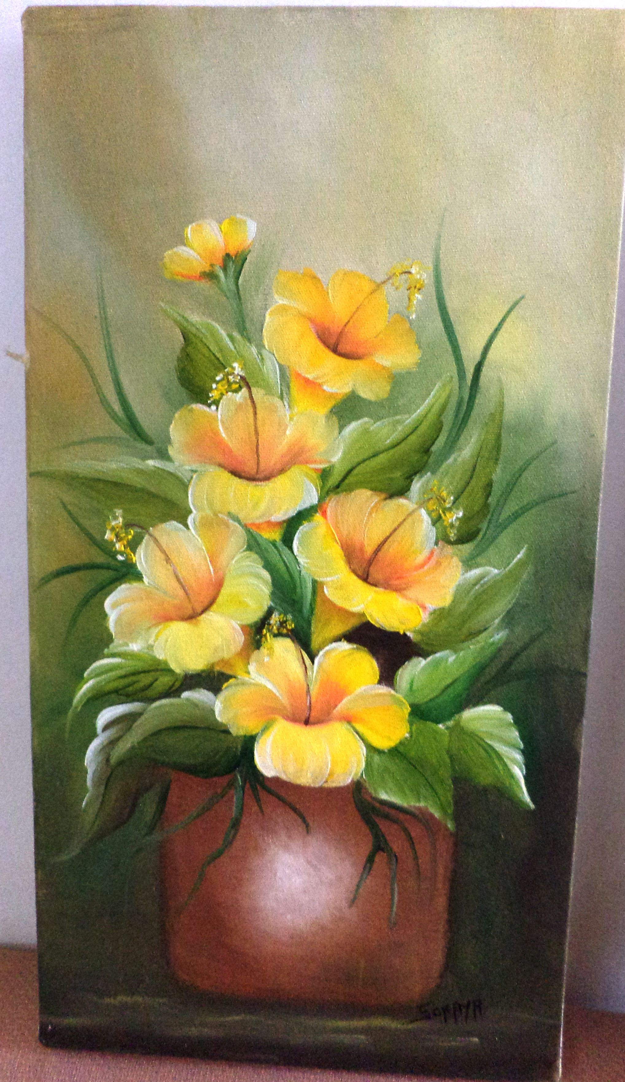 leo sobre tela pinturas pinterest peinture fleur et peinture d corative. Black Bedroom Furniture Sets. Home Design Ideas