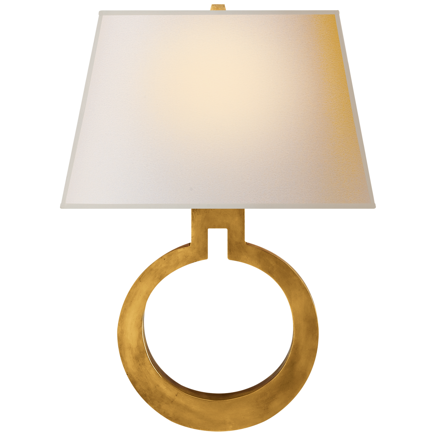 Ring Form Large Wall Sconce Visual Comfort Lighting Wall Lights Brass Decor