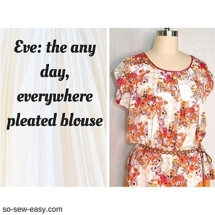 Eve: the everywhere pleated blouse | Craftsy | Große Mädchen gratis ...