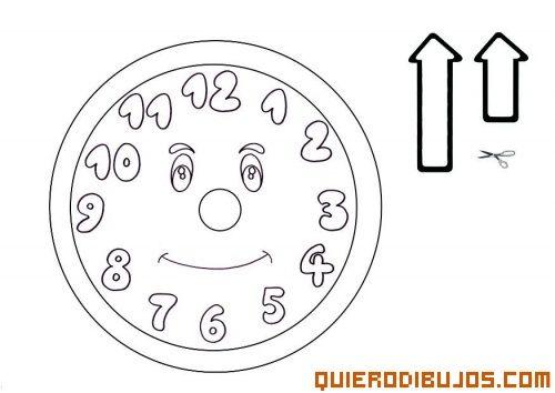 Maqueta De Reloj Para Armar Y Colorear Reloj Relojes Dibujo