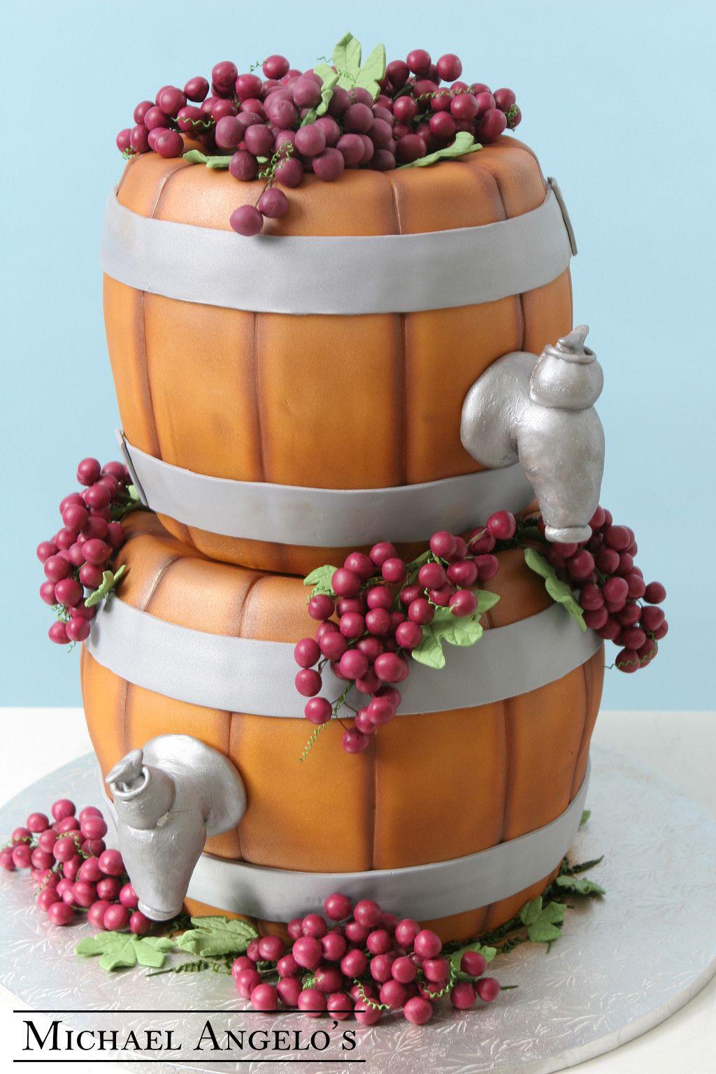 Mini wine barrels 2groom cake flavors cake design