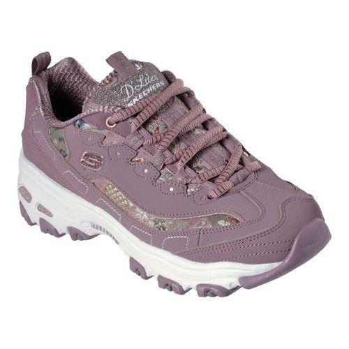 cb610322f5e6 Women s Skechers D Lites Floral Days Sneaker - Mauve Walking Shoes