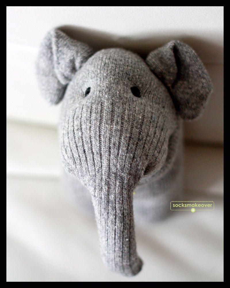 Sock A Phant By Socksmakeover Toy Plushie Elelphapnt Dolls