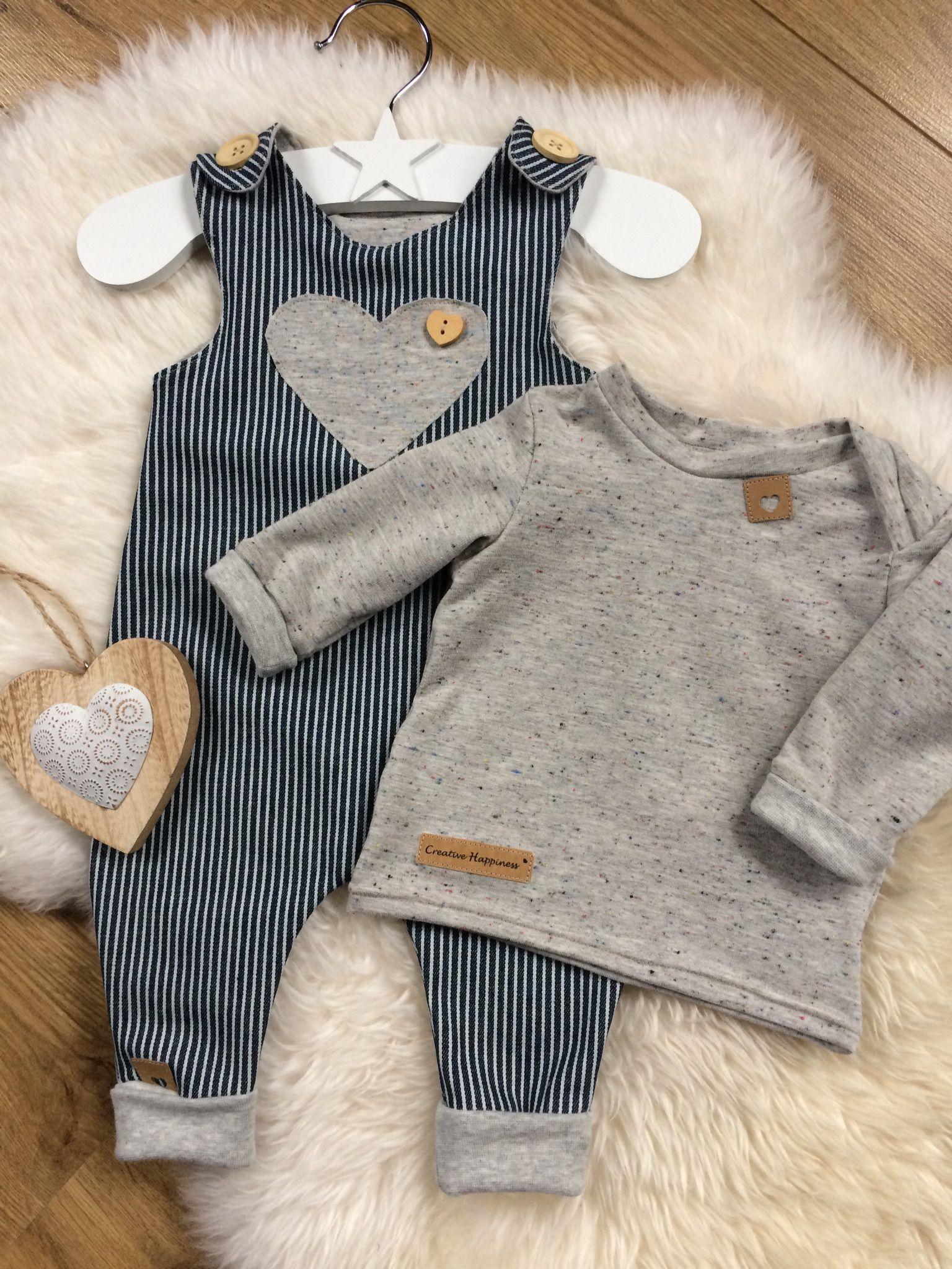 Strampler Oberteil Inspiration Herz Applikation Snap Pap Label Knöpfe Knopf Holz, Bündchen, nähen Baby #babykidclothesandideas