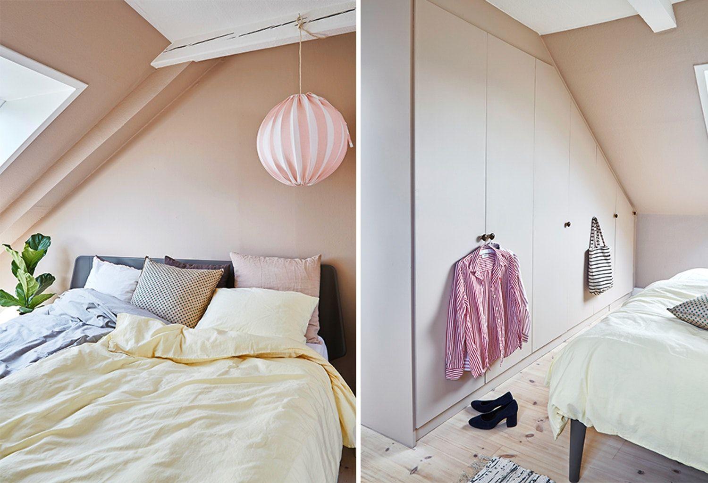 Photo of Se hvordan Lea og Jacob skapte luksuriøs soverom med maling og Ikea hack | Bo …